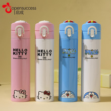 New Hello Kitty Bottle Stainless Steel Double Wall Vacuum Flask Coffee Mug Travel Tumbler Water Bottle Insulated Thermos Car Cup