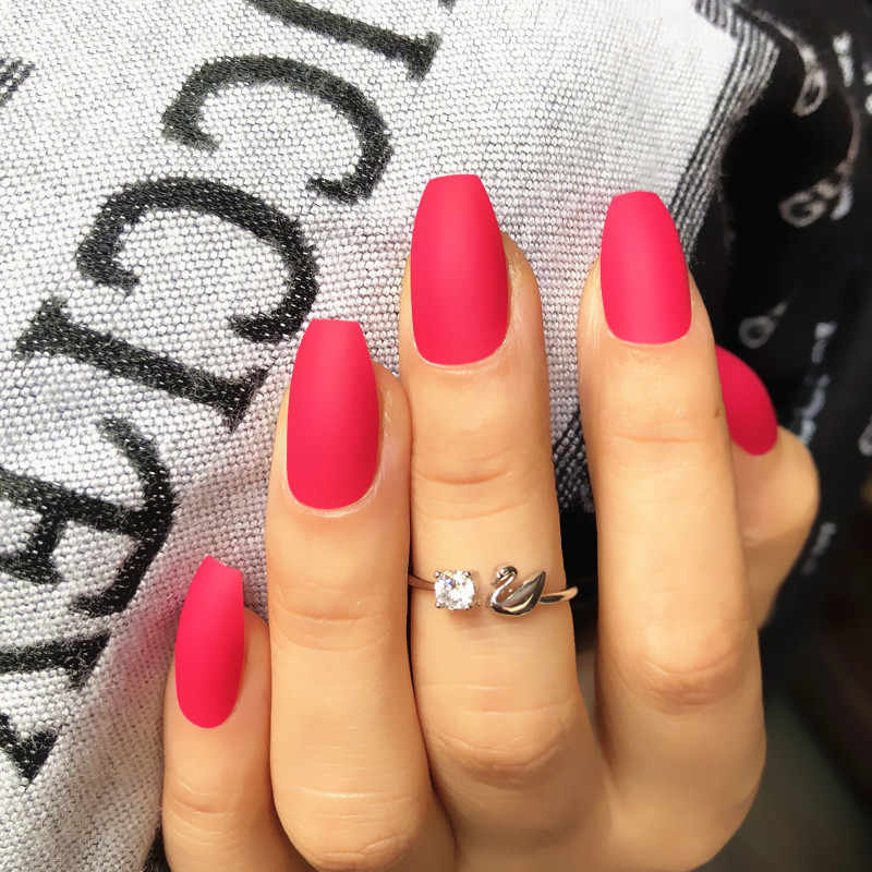Detail Feedback Questions about High quality Stiletto nails Matte ...