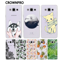 CROWNPRO Soft Silicone FOR Coque Samsung Galaxy A5 2015 Case Cover A500 A5000 Phone Protective FOR Funda Samsung A5 2015 Case