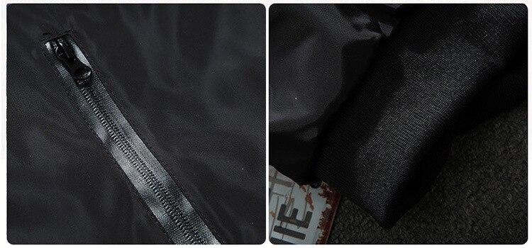 BINYUXD Men Bomber Jacket Thin Slim Long Sleeve Camouflage Military Jackets Hooded 2017 Korean Style Army Brand Clothing