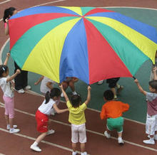 2m 78' Child Kid Sports Development Outdoor Rainbow Umbrella Parachute Toy Jump-sack Ballute Play Parachute