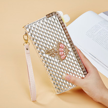 Rhinestone business card holder promotion shop for promotional wallet for women purse business card holder fashion rhinestone diamond women purse zipper ladies wallet case colourmoves Image collections