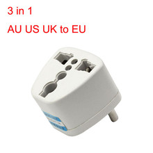 Universal AU US UK to EU AC Power Plug Travel Adapter Outlet Converter Socket for traveller or Home USE