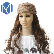 Crochet Twist Knitted Turban Headband Women Vintage Winter Ear Warmer Woolen Headwear Elastic Head Band Girls Make Up Hairbands
