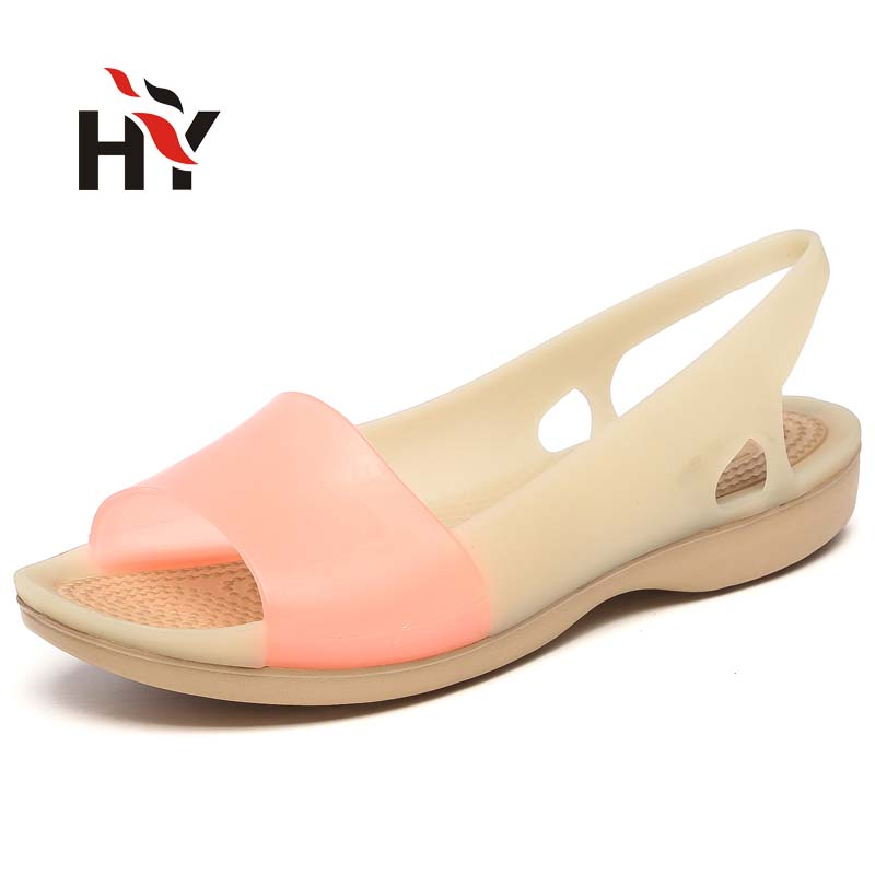 Rainbow Jelly Shoes Women Wedges Sandalias Woman Sandals Summer New Candy Color Peep Toe Stappy Beach Valentine Mujer Slippers<br><br>Aliexpress