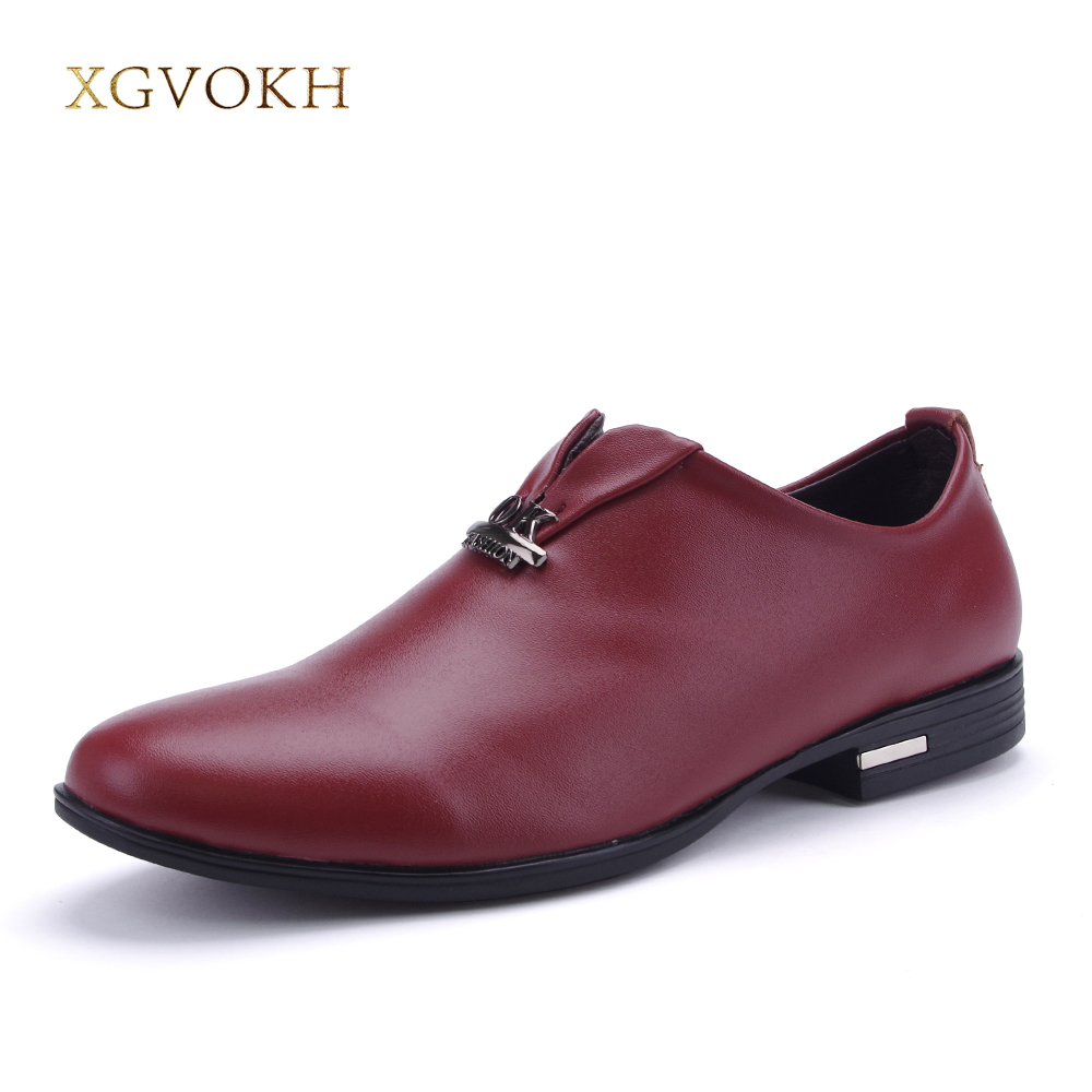British casual men oxfords Spring slip-on business genuine leather shoes Fashion pointer toe solid flats Casual men shoes <br>