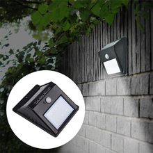 Solar 6 LED PIR Human Motion Sensor Light Outdoor Path Wall Security Lamp