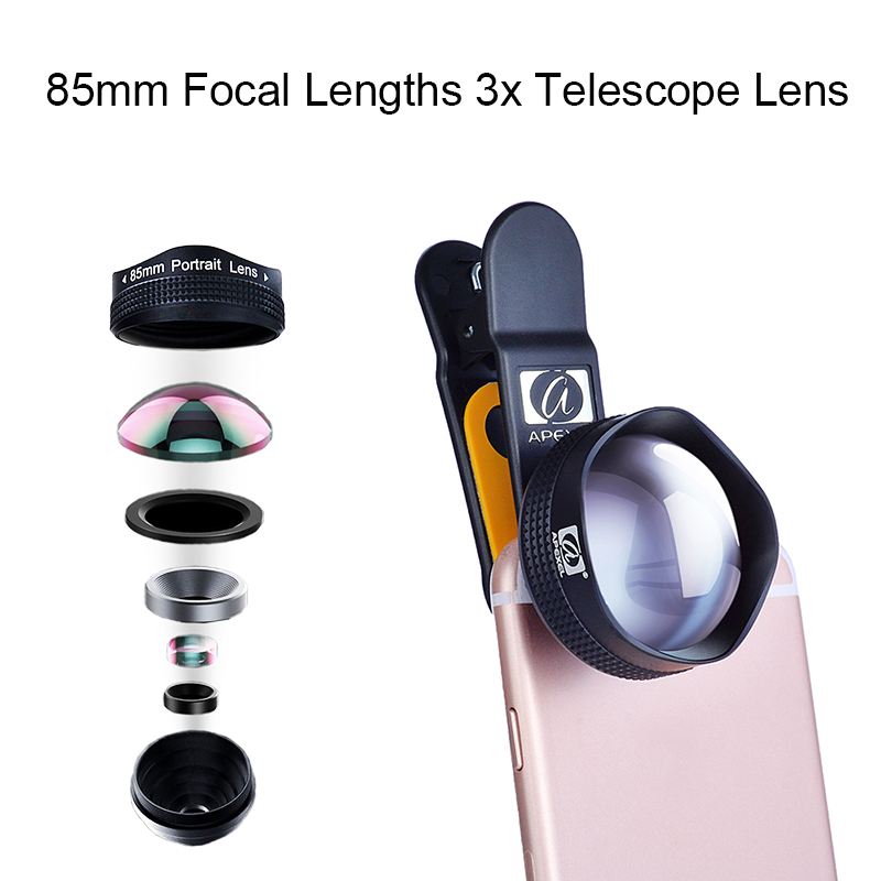 85mm Focal Lengths 3x Telescope font b Lens b font Professional Portrait HD font b Mobile