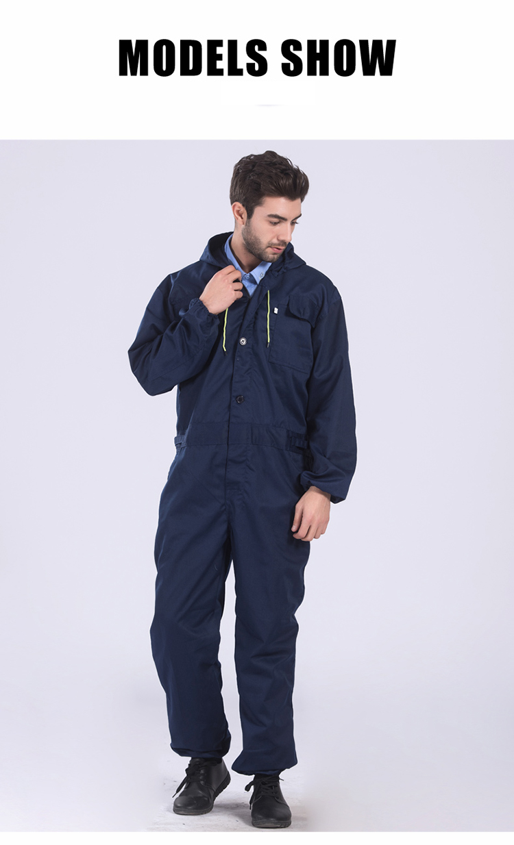 Work clothing Mens coverall repairman jumpsuits trousers working uniforms Workwear coveralls Plus Size long sleevel coveralls 38