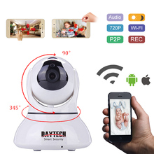 Daytech IP Camera Home Security WiFi Camera Night Vision Infrared Two Way Intercom 720P Baby Monitor Motion Detection DT-C8817(China)