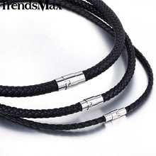 Trendsmax Black Brown Women Men Necklace Chain Leather Choker Fashion Jewelry UNM09(Hong Kong)