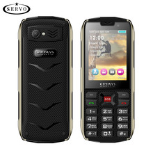 SERVO H8 Mobile Phone 2.8inch 4 SIM card 4 standby Bluetooth Flashlight GPRS 3000mAh Power Bank Phone Russian Language keyboard(China)