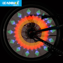 LEADBIKE Hot Wheels Lamp Bycicle spoke lights Bike Accessories Dazzle Color Luz Rueda Bicicleta LED Red Flashlight For Bicicleta