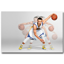 NICOLESHENTING Stephen Curry Art Silk Fabric Poster Print 13x20 32x48inch Basketball Star Pictures Home Wall Decor 024