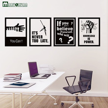 MARUOXUAN 4 Pieces / Sets Of Black And White Frame Stickers Dance School School Classroom Company Office Decoration Wall Sticker
