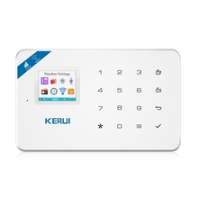2017 KERUI W18 WIFI GSM SMS Home Burglar Security Alarm System TFT color display APP Control Touch Screen Alarm Panel