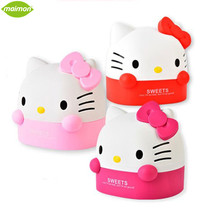 Lovely Hello Kitty Plastic Table Decorative Roll Paper Storage Boxes Cat Bathroom Tissue Box Container Toilet Paper Holder