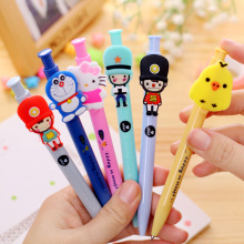 10 pcs/lot Cartoon Hello kitty Doraemon Ballpoint pen Cute solider ball pen Korea stationery School Office Supply student Gift(China)