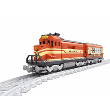 Ausini building block set compatible with lepin transportation train 016 3D Construction Brick Educational Hobbies Toys for Kids