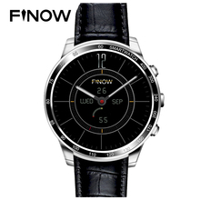 Новинка 2017 года finow Q7 плюс Smart Watch Phone Support Android 5.1 MTK6580 4 ядра 3G WIFI BT с 0.3mp TF карты для Android телефон(China)