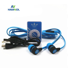 HAMNOL 3pcs Combination Portable MP3 Clip Mini MP3 Players Support Micro SD Card + Stereo Earphone + Micro USB Charging Cable