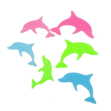 Diy colorful dolphin kids wall sticker for kids rooms glow in the dark wall stickers home decor living rooms fluorescent poster