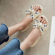 Wearing fashion Korean version flat bottom flat slip non-slip summer outdoor leisure beach flip flops ladies slippers(China)