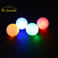 Led Golf Balls Flashing Glowing LED Balls with 6 Colors for Night Training Luxury Golf Practice