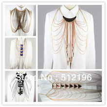 ANL0148, Sexy Body Chian Tippet Necklace Shoulder Tassel Body Chain(China)