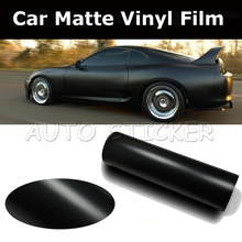 Hot Sale Retailing 5m/10m/15m/20m Black Matte Car Wrap Vinyl Film Matte Black Vinyl Wrap Matt Black Wrap Air Free Vehicle Wraps