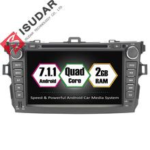 Android 7.1.1 2 Two Din 8 Inch Car DVD Player For Toyota/Corolla 2007 2008 2009 2010 2011 With 1GB/2GB RAM GPS Navigation Radio(China)