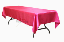 15pcs 145x304cm Fuchsia/Peach/Lilac/Light Pink Satin Rectangle Tablecloth For Wedding Event&Party&Hotel&Banqet&Home Decoration