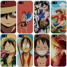 monkey d luffy one piece anime Hard Black Plastic Case Cover for iPhone Apple 4 4s 5 5s SE 5c 6 6s 7 7s Plus(China)