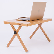 Nan Bamboo Computer Desk Folding Laptop Bed Dormitory Lazy Simple Learning Table(China)