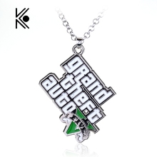 PS4 GTA 5 Game Grand Theft Auto 5 Fashion Pendant Metal Necklace For Men And Woman Fans Xbox PC Rockstar Can Drop Shipping