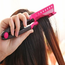 Random Delivery 1pc Sale Folding Hair V Comb Hairdressing Styling Straightener Salon Tool Has a Firm Grip, Hence Easy to Use