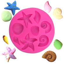 variety of marine life shells cooking tool DIY cake mold baking tools mold Christmas decoration silicone mold F0240(China)