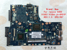 Brand New For lenovo S400 Motherboard PC Laptop Pentium For CPU 987 VIUS4 LA-8951P Rev:1.0 Warranty:90 Days(China)