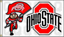OHIO STATE BUCKEYES BRUTUS NCAA COLLEGE FOOTBALL FLAG 3'x5' BANNER