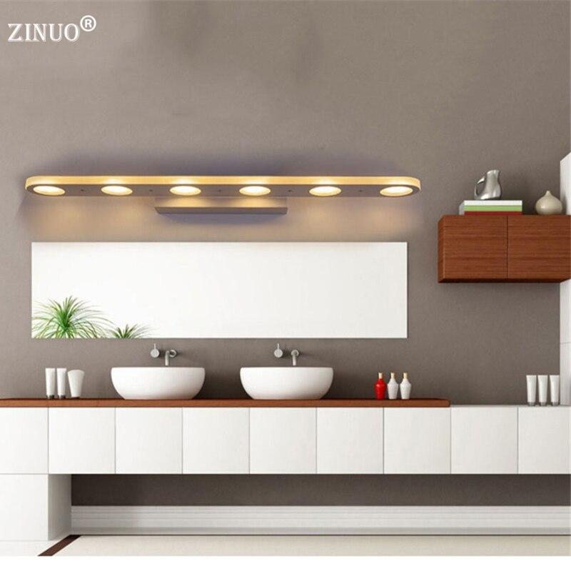 ZINUO 12W 18W Bathroom LED Mirror Light Waterproof 38CM 58CM AC220V 110V SMD5630 Cosmetic Acrylic Wall lamp Bathroom Lighting<br>