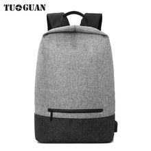 TUGUAN Computer Backpacks 12 15.6 Inch Laptop Backpack black Anti-theft Men Notebooks Bags for Dell HP Roomy School Travel Bag