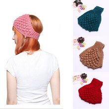 M MISM 1 pc Women Various Color Turban Headband Solid Pineapple Crochet Knitting Headwrap Ear Warmer Stretch Hair Accessories(China)