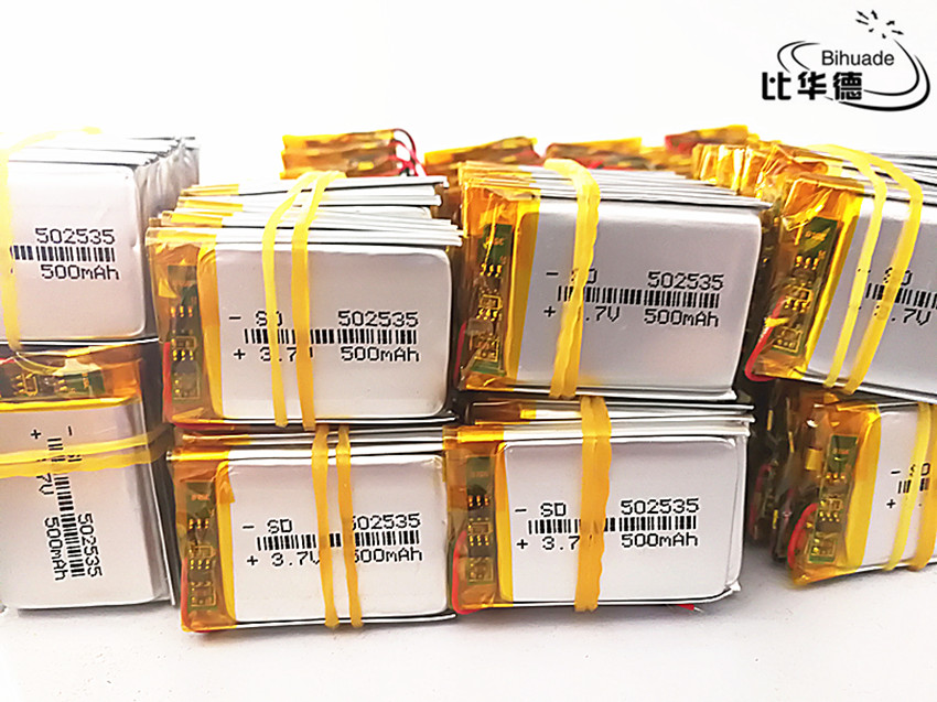 100pcs Free shipping 3.7V lithium polymer battery 052535 502535 MP4 MP5 DIY gifts / toys 500MAH For GPS PSP 1