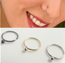 2 pieces 8mm Free shipping Spike Ball Hoop nose rings,Nose Ring body piercing jewelry,stainless steel COLORFUL nose stud nail