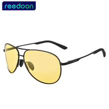Driver Driving High Definition Night Vision Sunglasses Yellow Lens Sun Glasses with Cleaning Cloth and bag Unisex free shipping