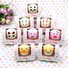 Creative Gift Cake Towel Valentine Day Wedding Things Single Box Of Towels Animal Lovers Promotional Hand Towel 20*21cm PC676317