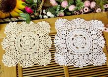 NEW DIY crochet white table cloth nappe towel cover dining doilies lace cotton Square tea tablecloth for home wedding decoration