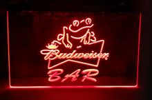 Budweiser Frog 2 size Bar Beer NEW carving signs Bar LED Neon Sign home decor crafts
