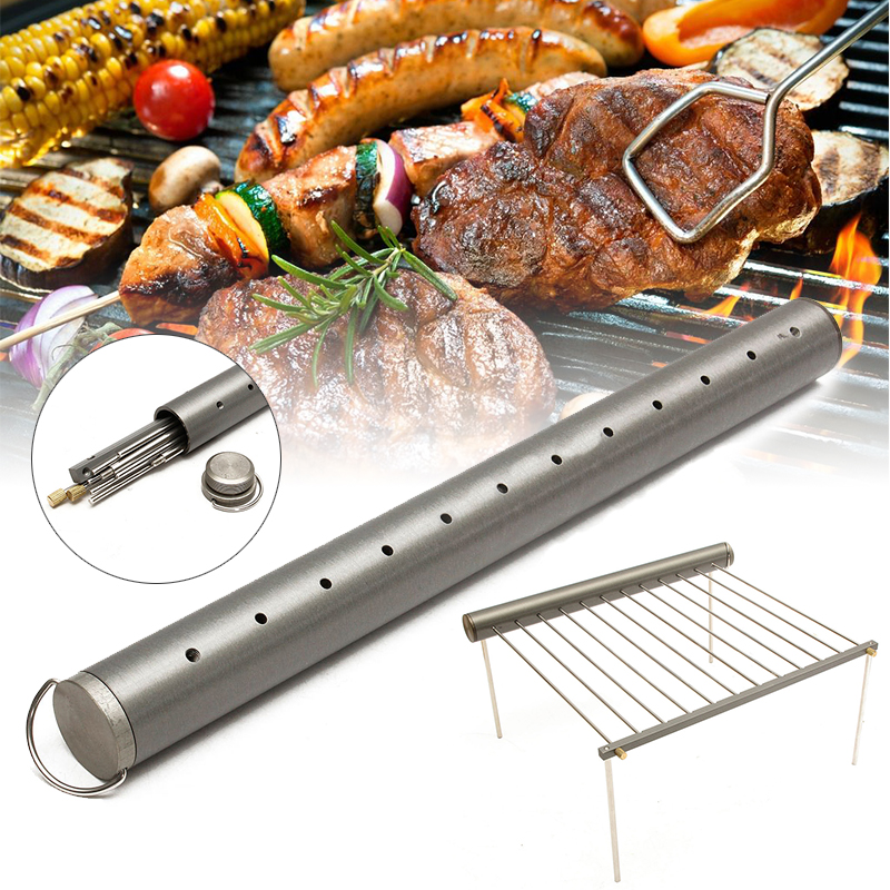 1SET Stainless Steel Portable Outdoor Camping Beach Folding BBQ Grill Stove New