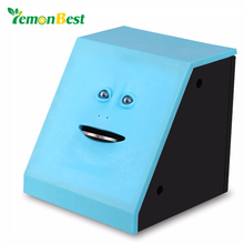 LemonBest Face Money Eating Box Cute Facebank Piggy Bank Coins Box Money Coin Saving Bank for Children Toys Gift Home Decoration(China)